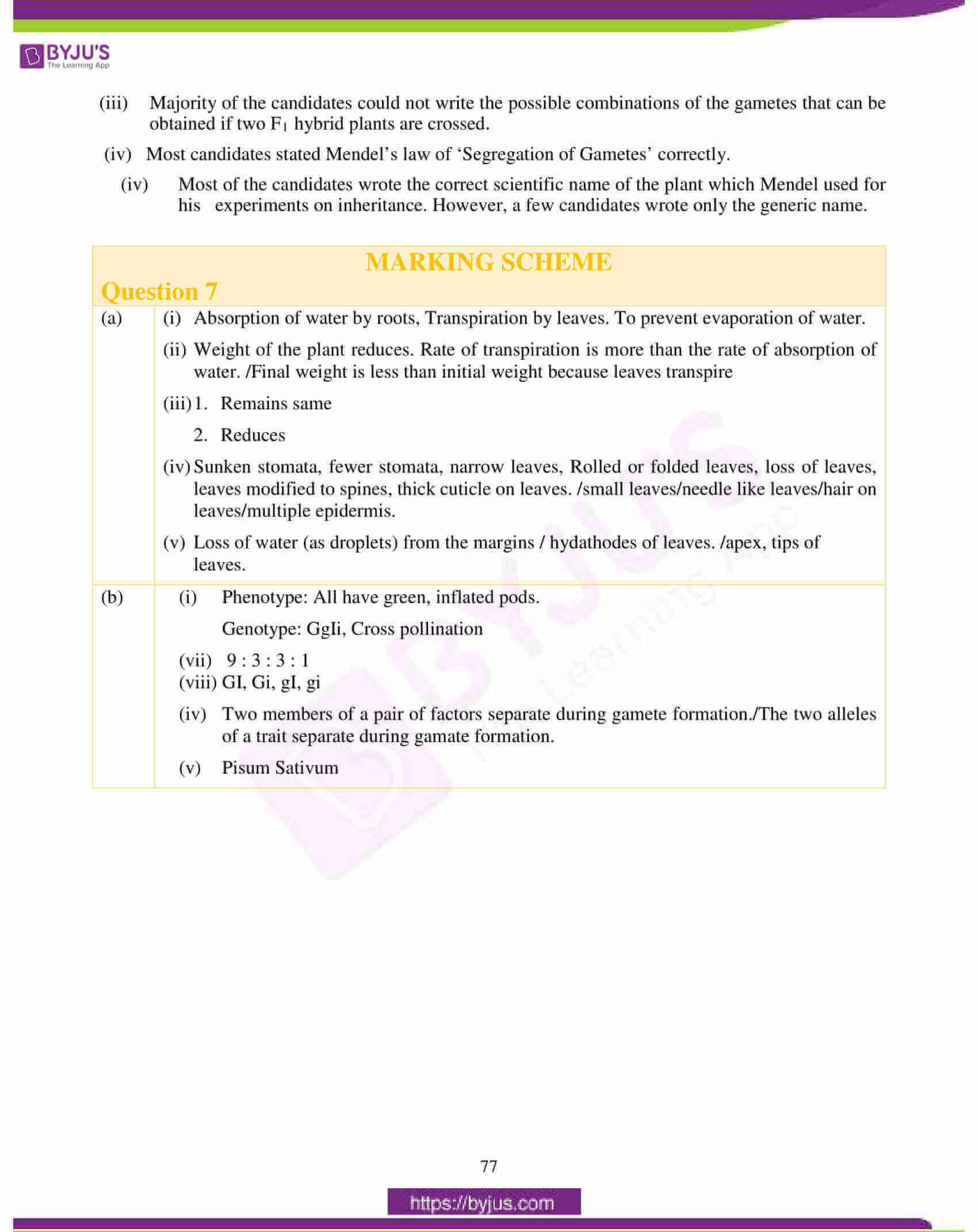 icse class 10 biology question paper solution 2018 24