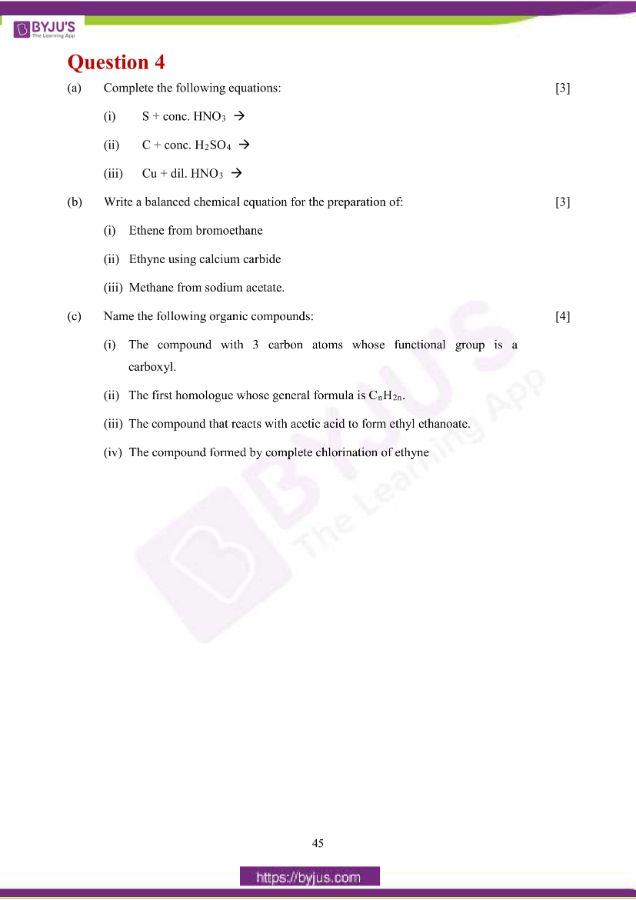 icse class 10 che question paper solution 2019 13