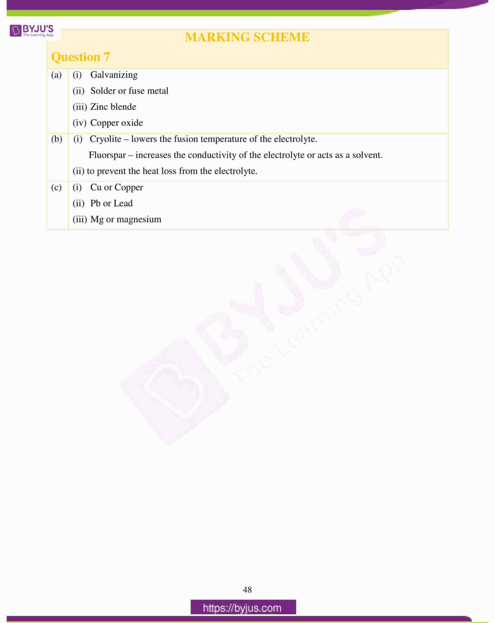 icse class 10 chemistry question paper solution 2017 20