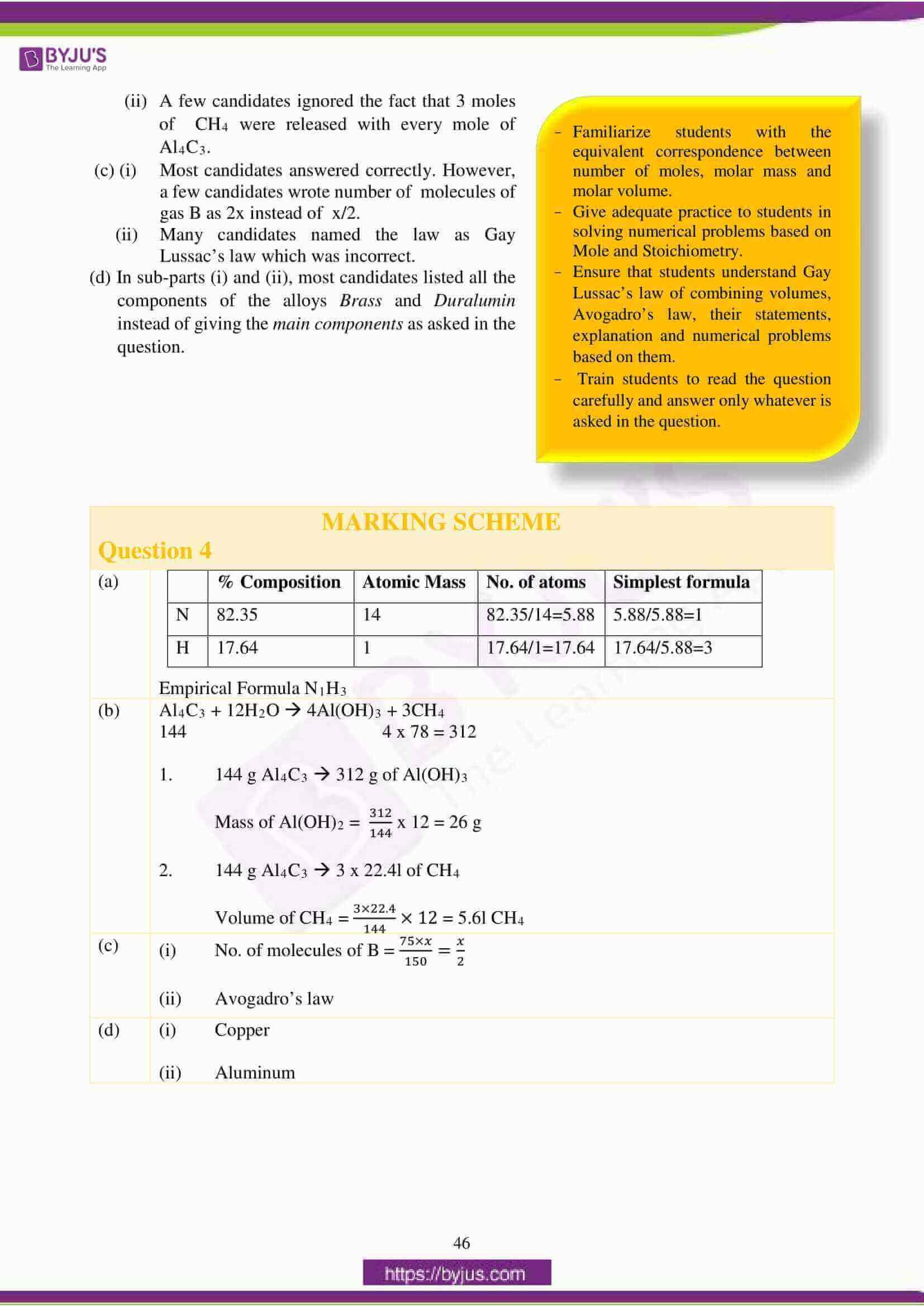 icse class 10 chemistry question paper solution 2018 13