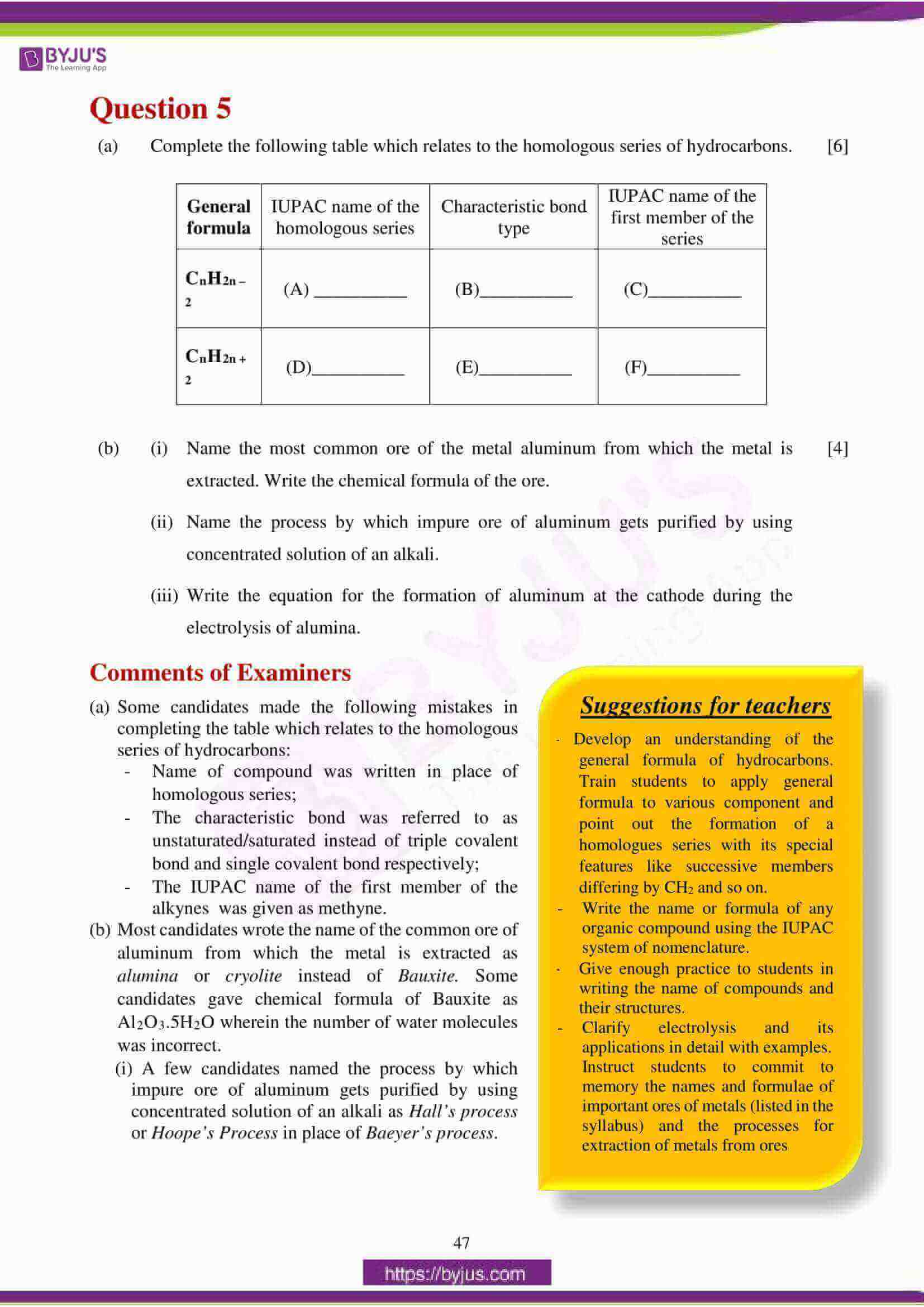 icse class 10 chemistry question paper solution 2018 14
