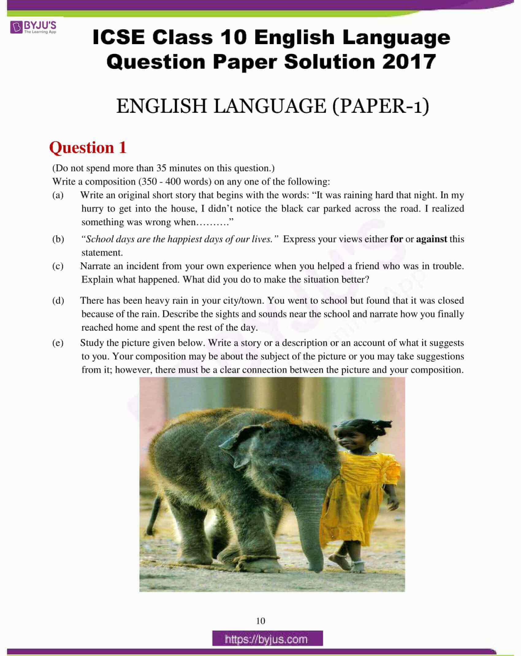 icse class 10 eng lan question paper solution 2017 01