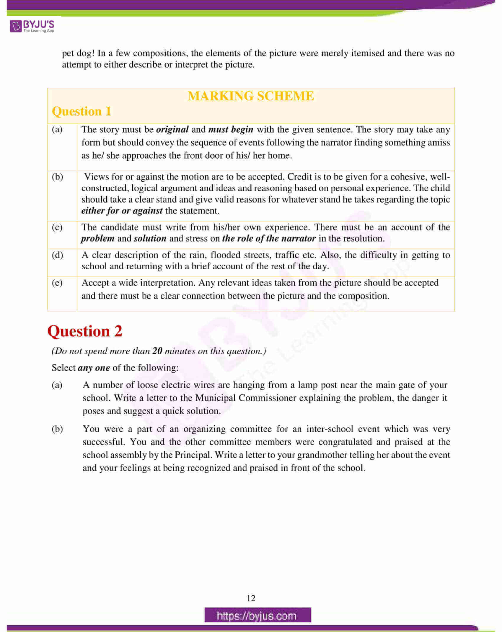 icse class 10 eng lan question paper solution 2017 03