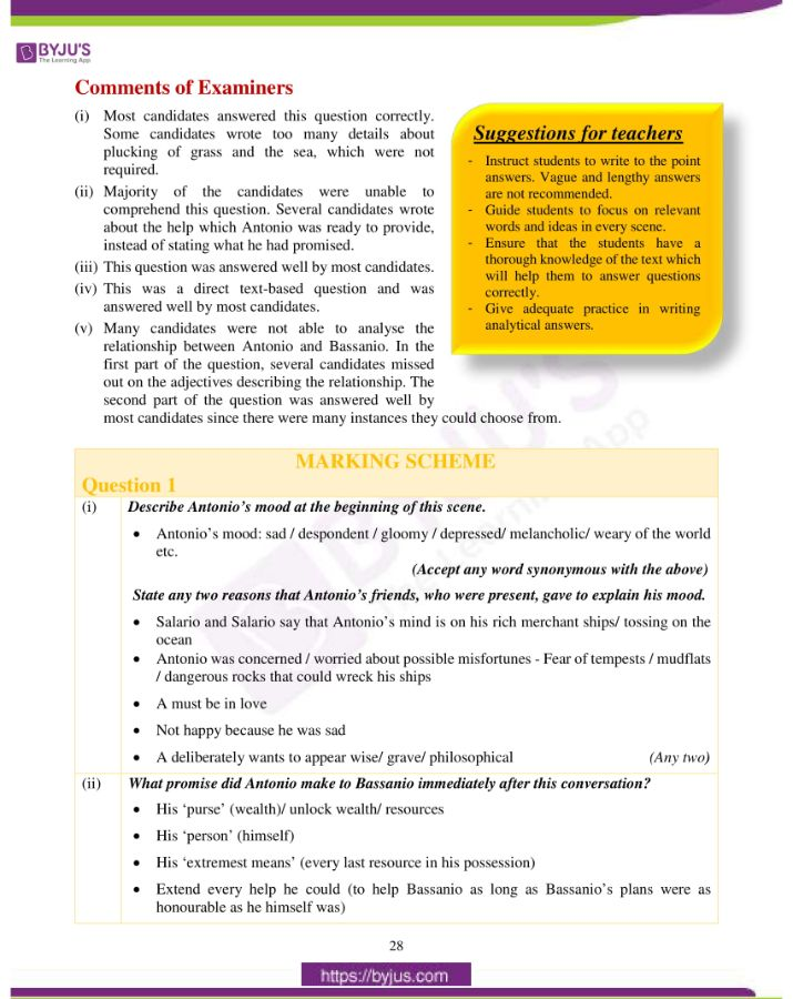 icse class 10 eng lit question paper solution 2019 02