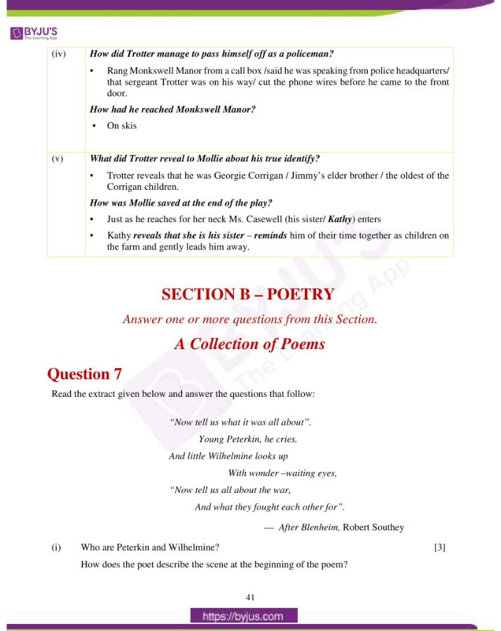 icse class 10 eng lit question paper solution 2019 15