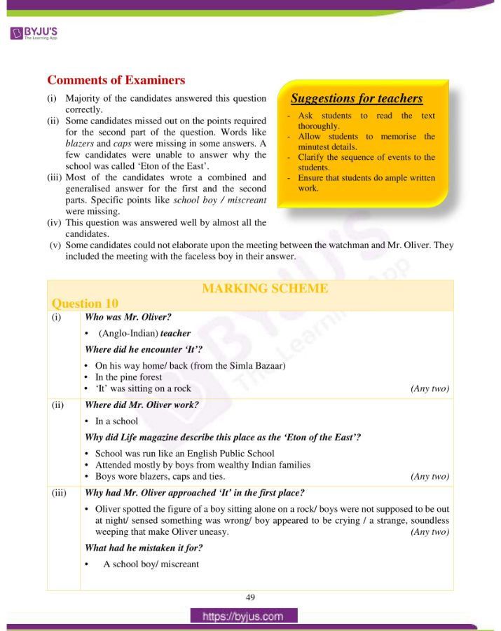 icse class 10 eng lit question paper solution 2019 23