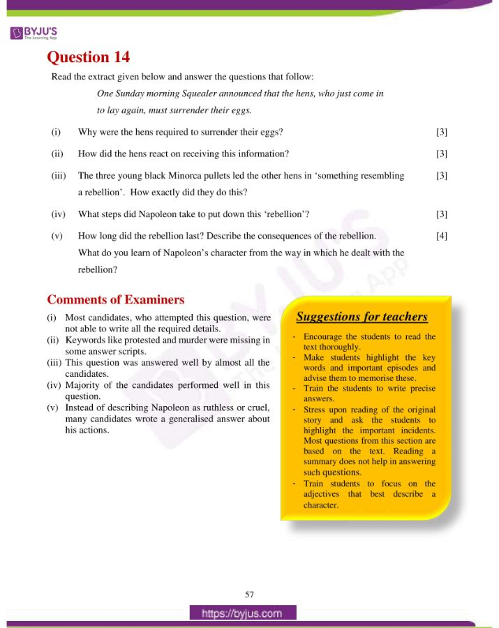 icse class 10 eng lit question paper solution 2019 31