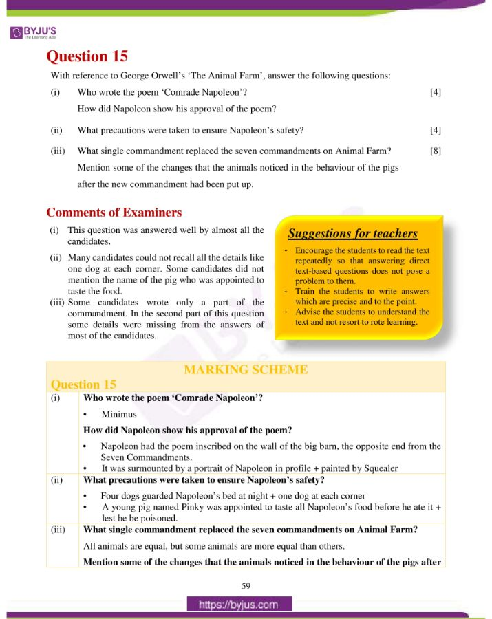 icse class 10 eng lit question paper solution 2019 33