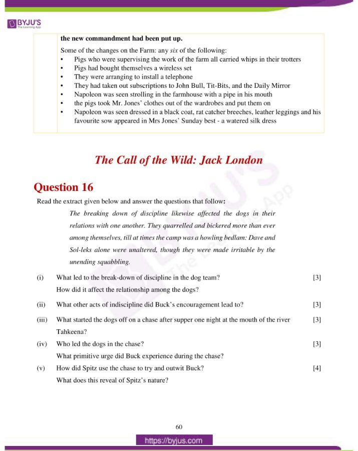icse class 10 eng lit question paper solution 2019 34