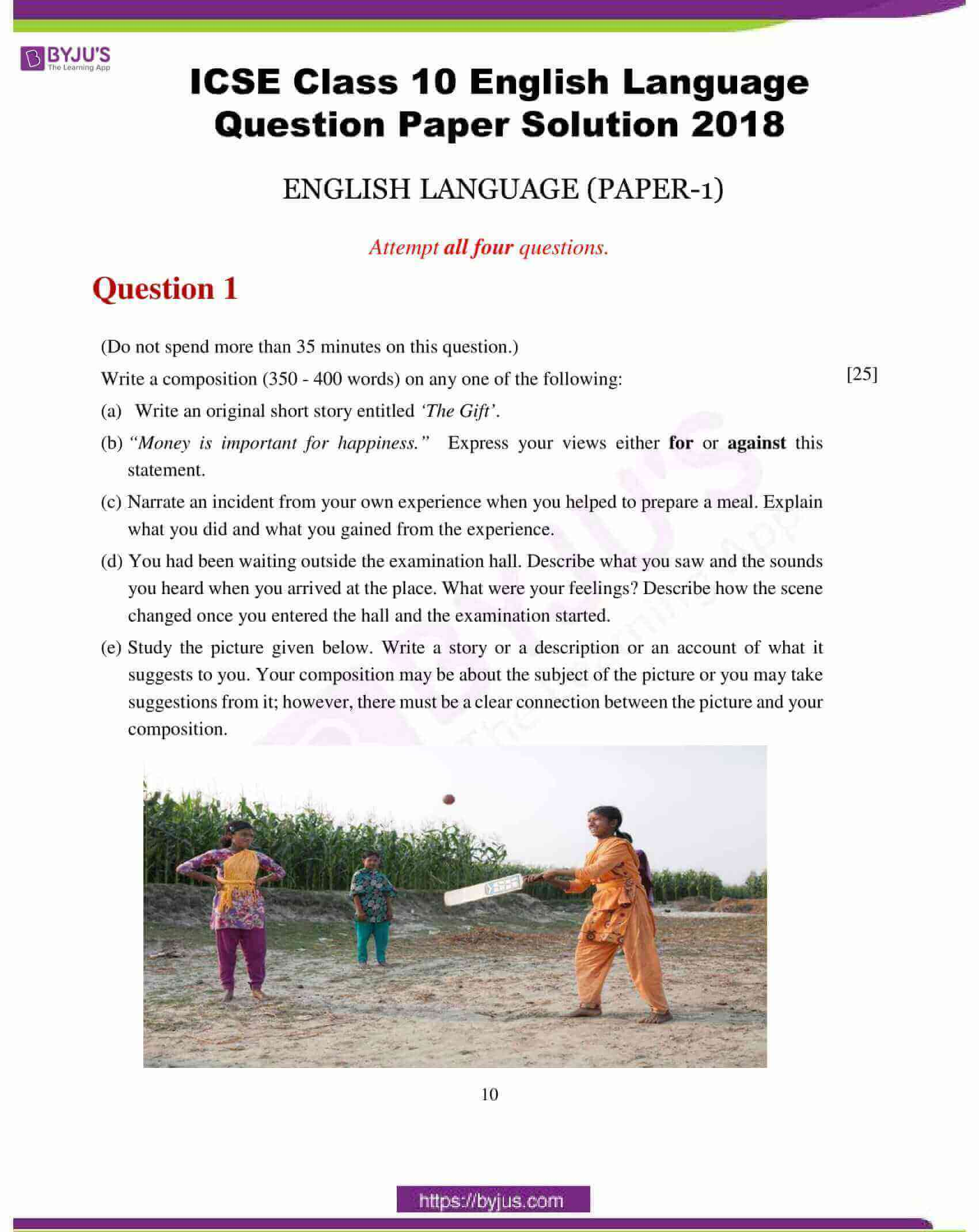 icse class 10 english lan question paper solution 2018 01