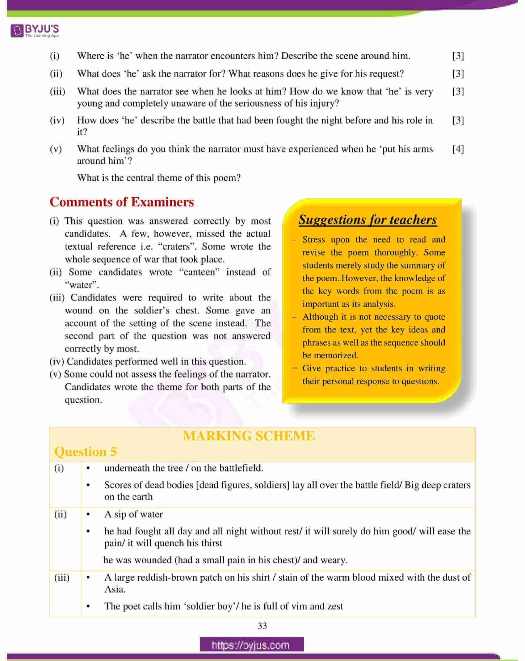 icse class 10 english lit question paper solution 2018 09