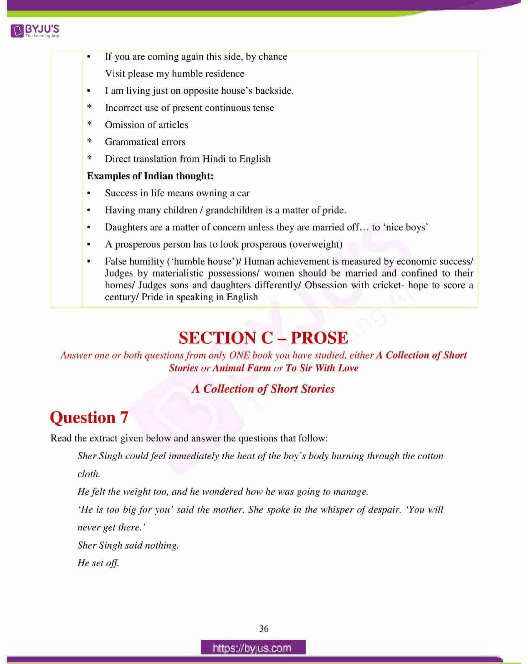 icse class 10 english lit question paper solution 2018 12
