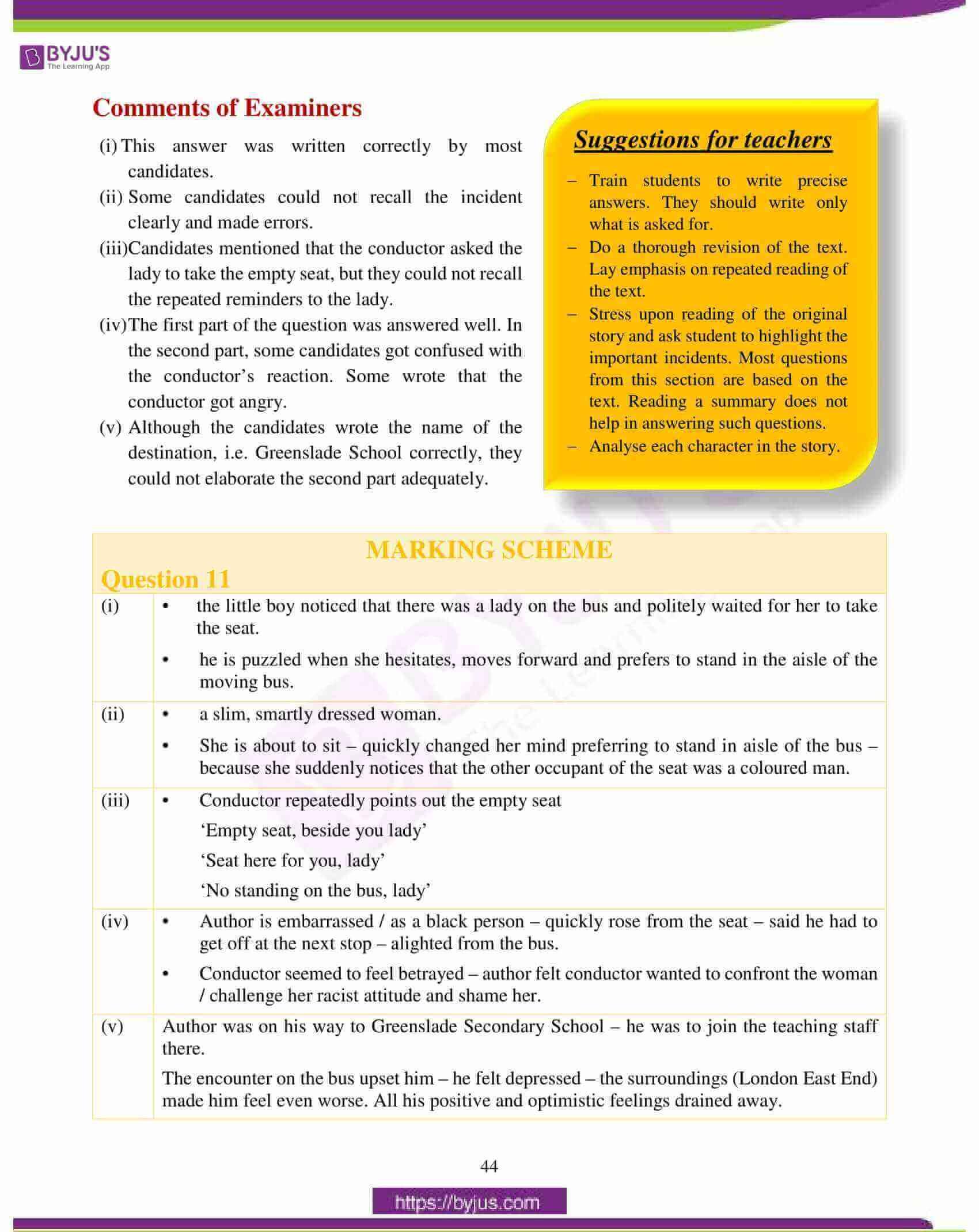 icse class 10 english lit question paper solution 2018 20