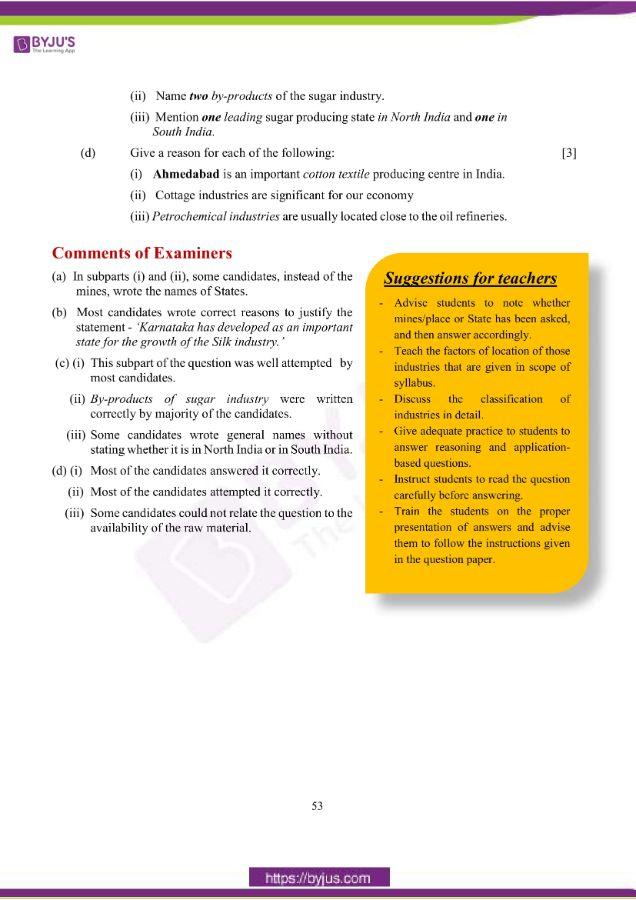 icse class 10 geo question paper solution 2019 21