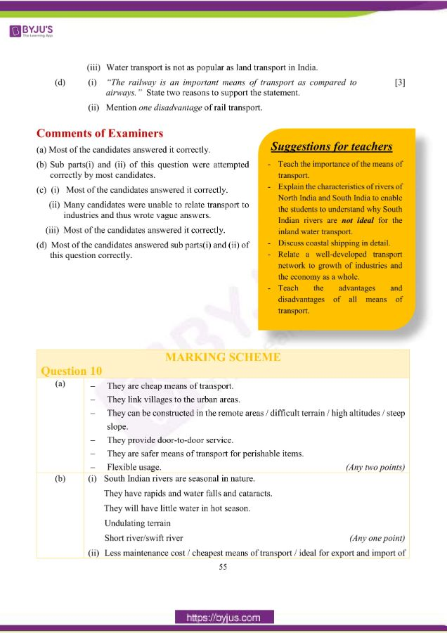 icse class 10 geo question paper solution 2019 23
