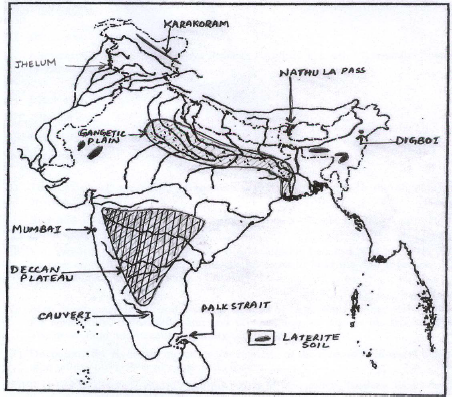 ICSE Class 10 Geography Qs Paper 2019 Solution-1