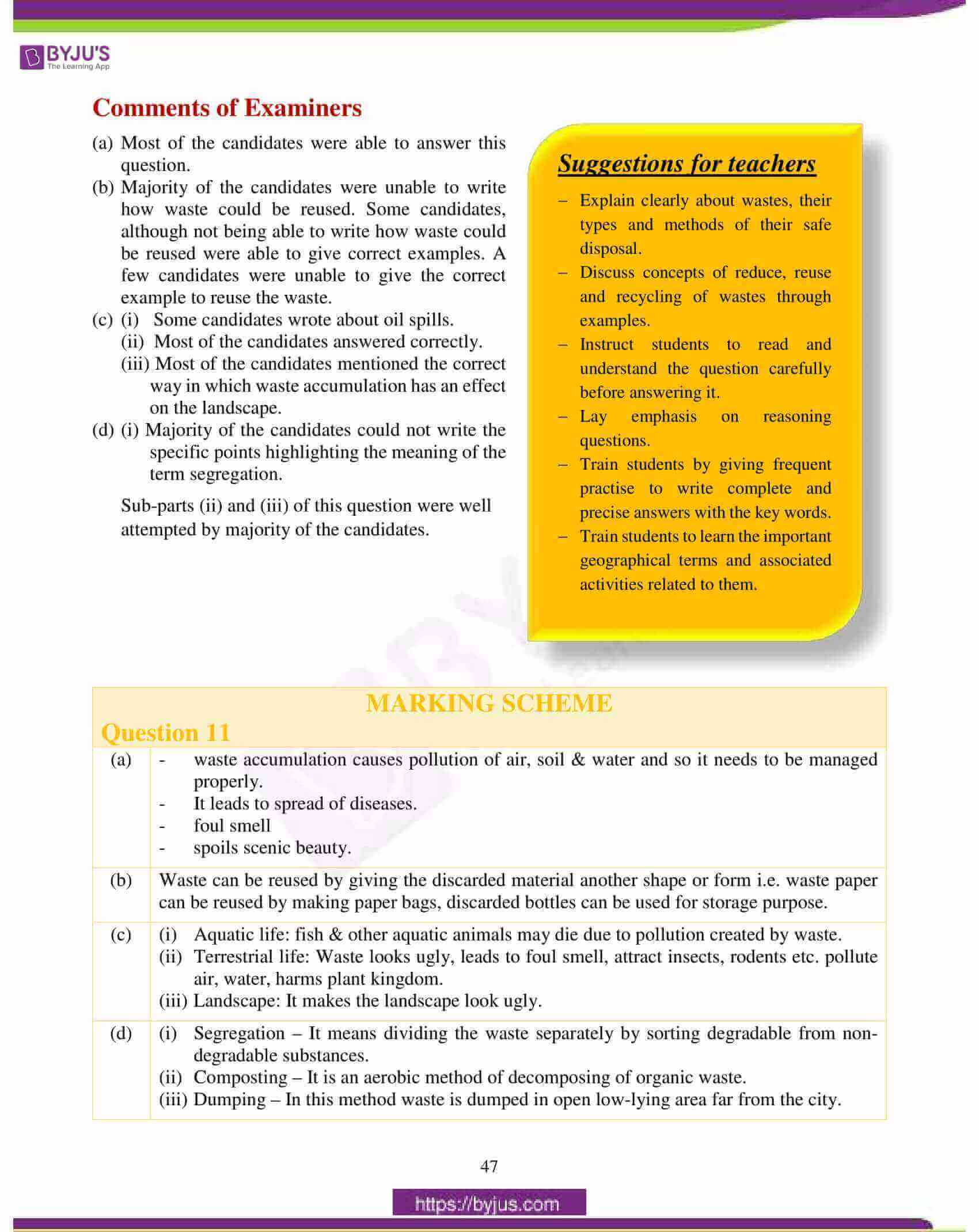 icse class 10 geography question paper solution 2018 18