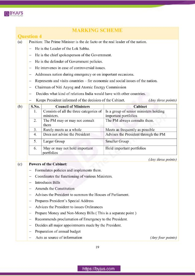 icse class 10 his civics question paper solution 2019 10