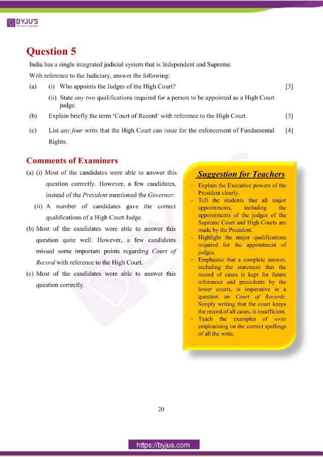 icse class 10 his civics question paper solution 2019 11