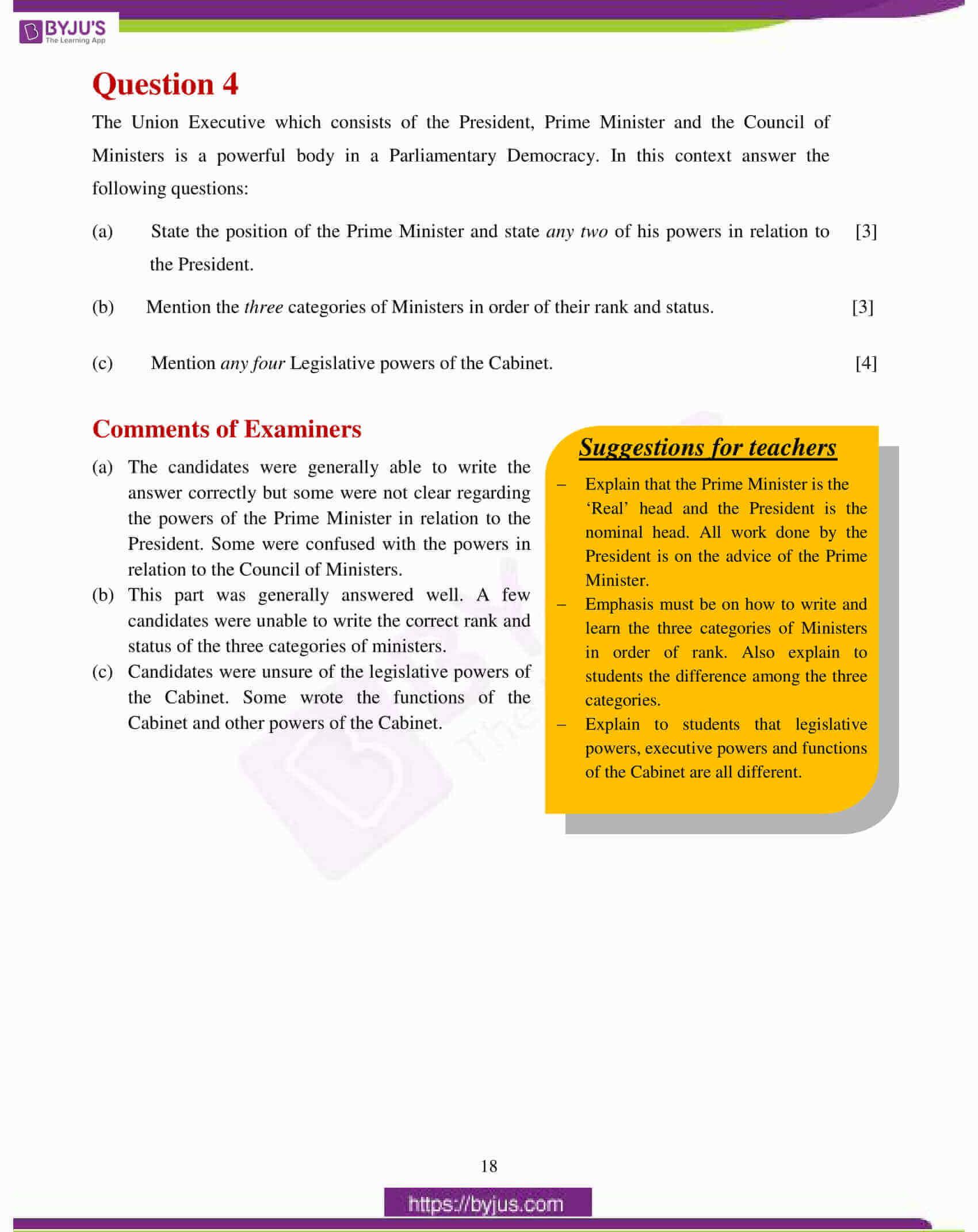 icse class 10 history civics question paper solution 2017 09