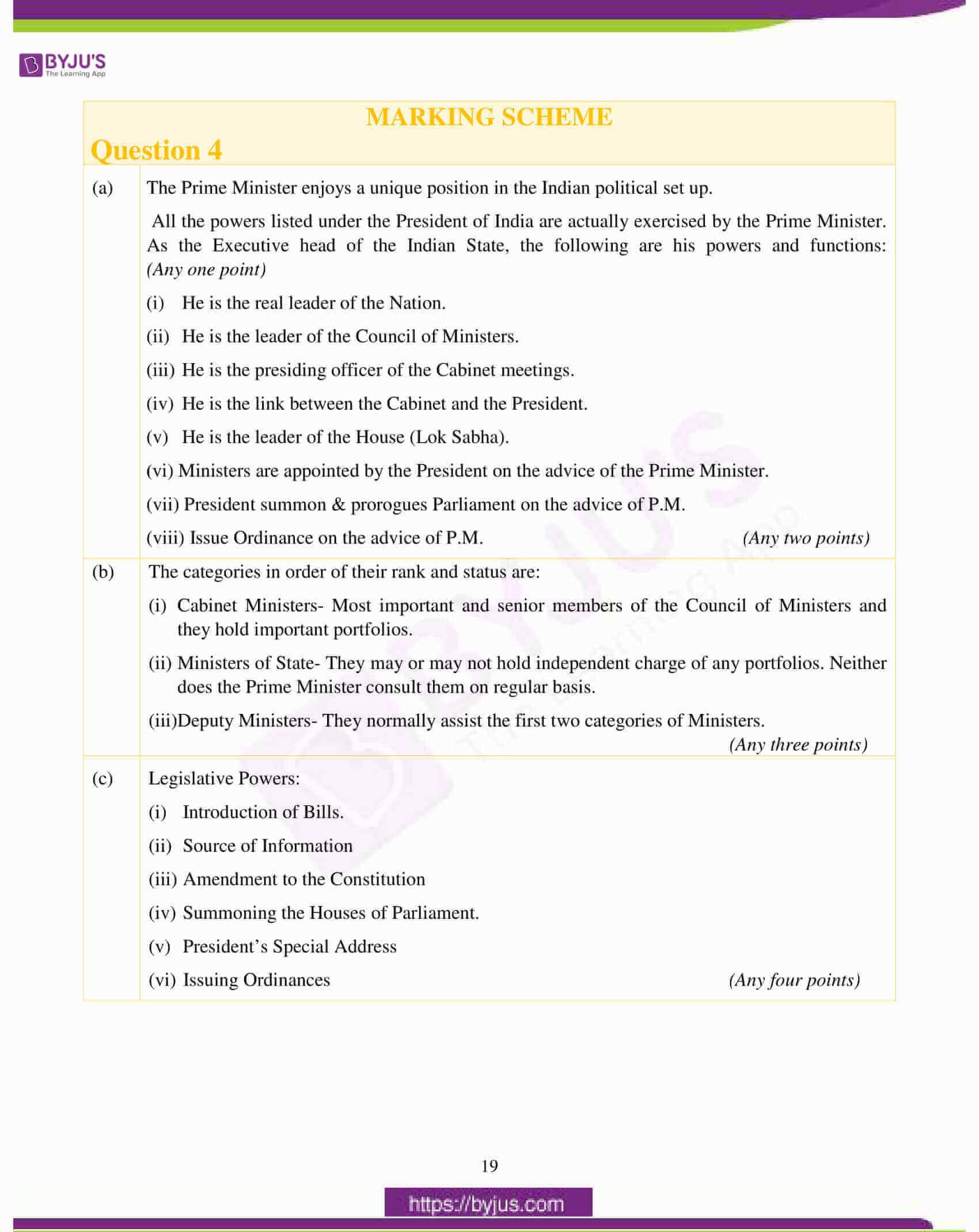 icse class 10 history civics question paper solution 2017 10
