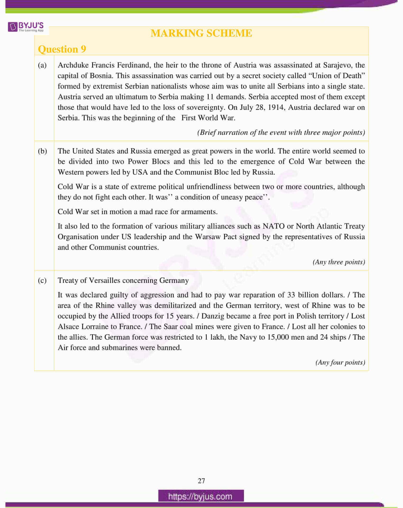 icse class 10 history civics question paper solution 2017 18