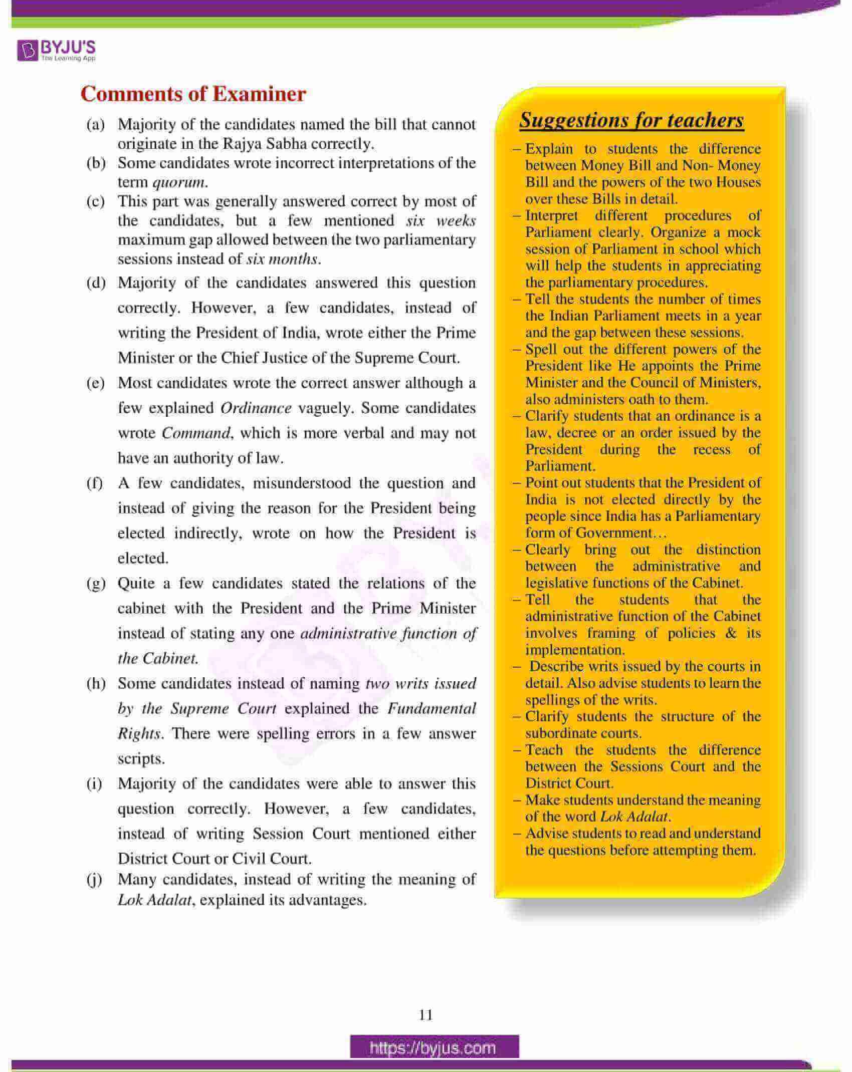icse class 10 history civics question paper solution 2018 02