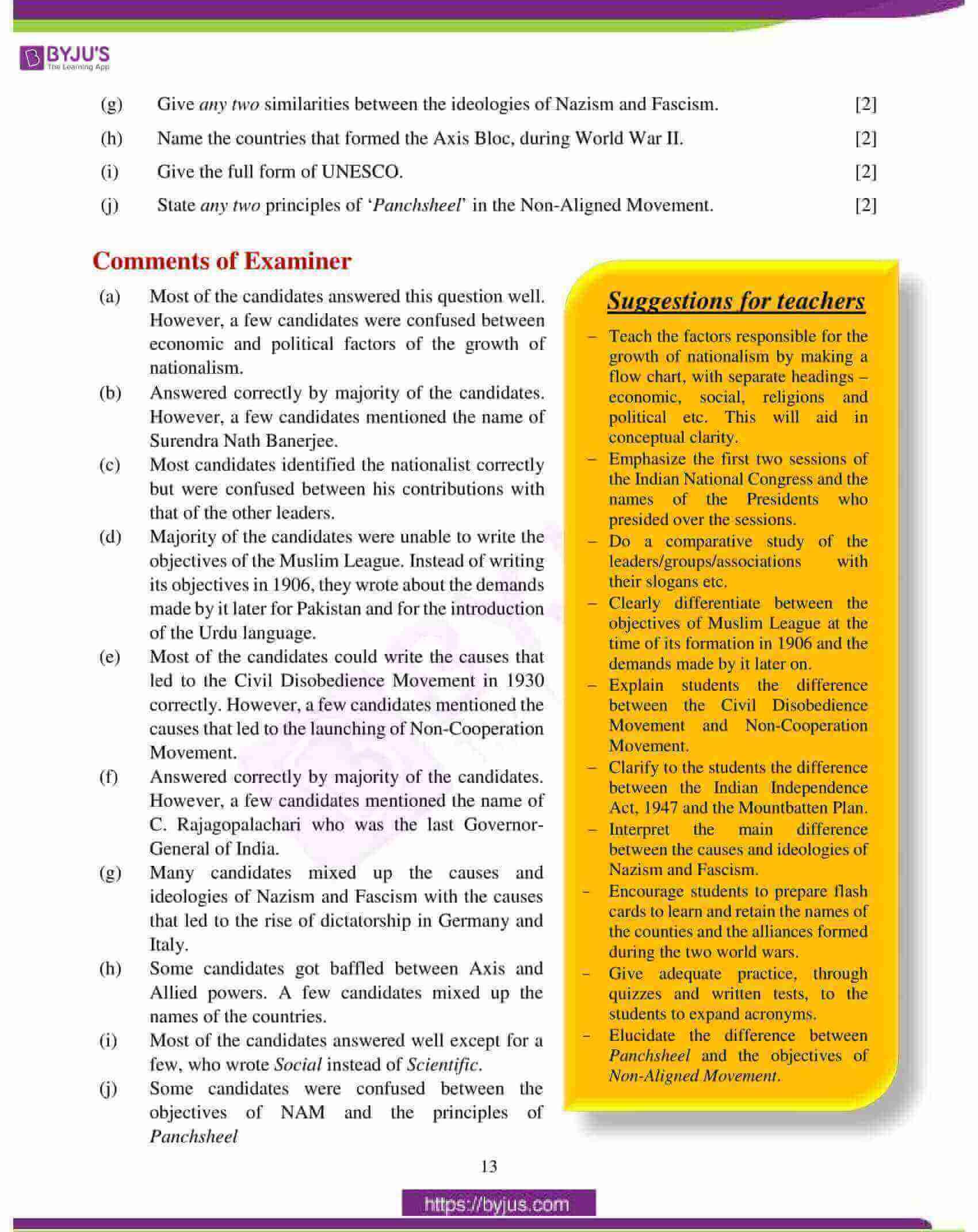 icse class 10 history civics question paper solution 2018 04