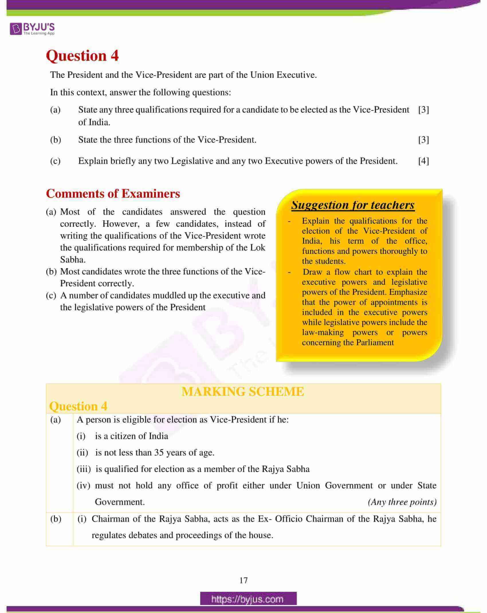 icse class 10 history civics question paper solution 2018 08