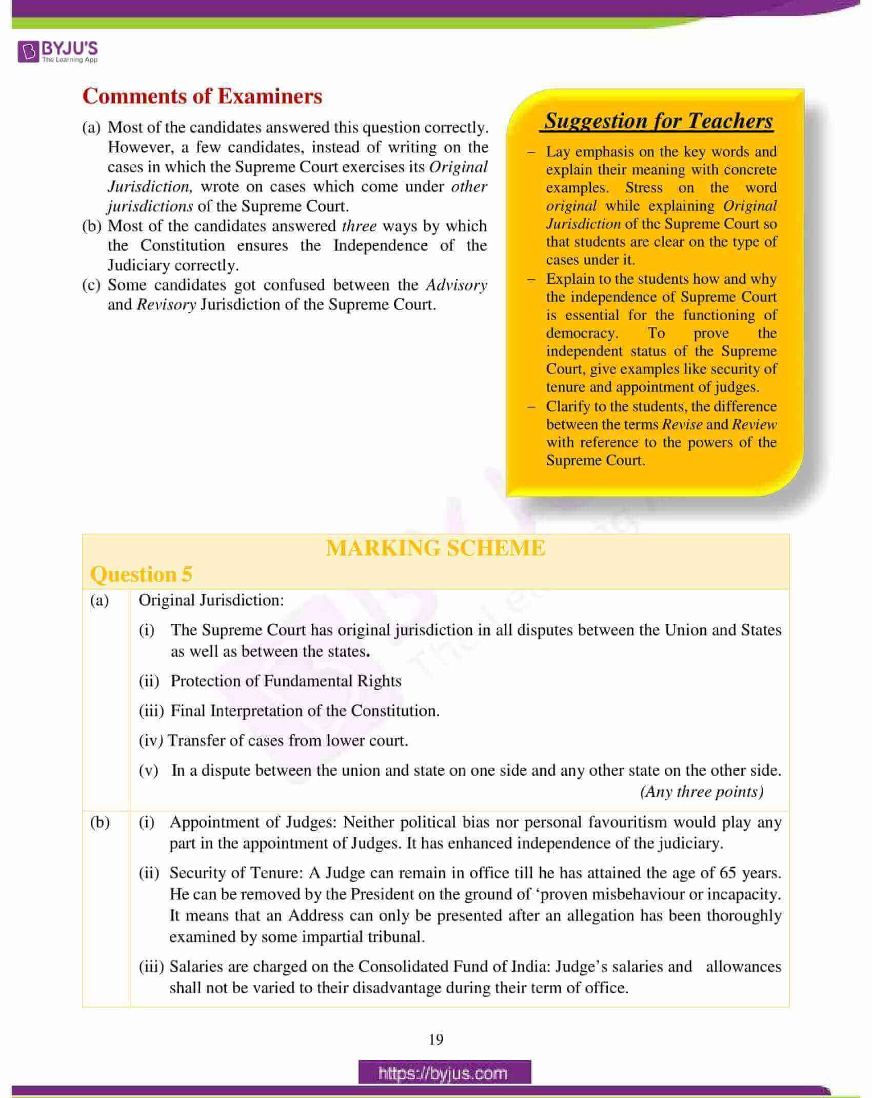 icse class 10 history civics question paper solution 2018 10