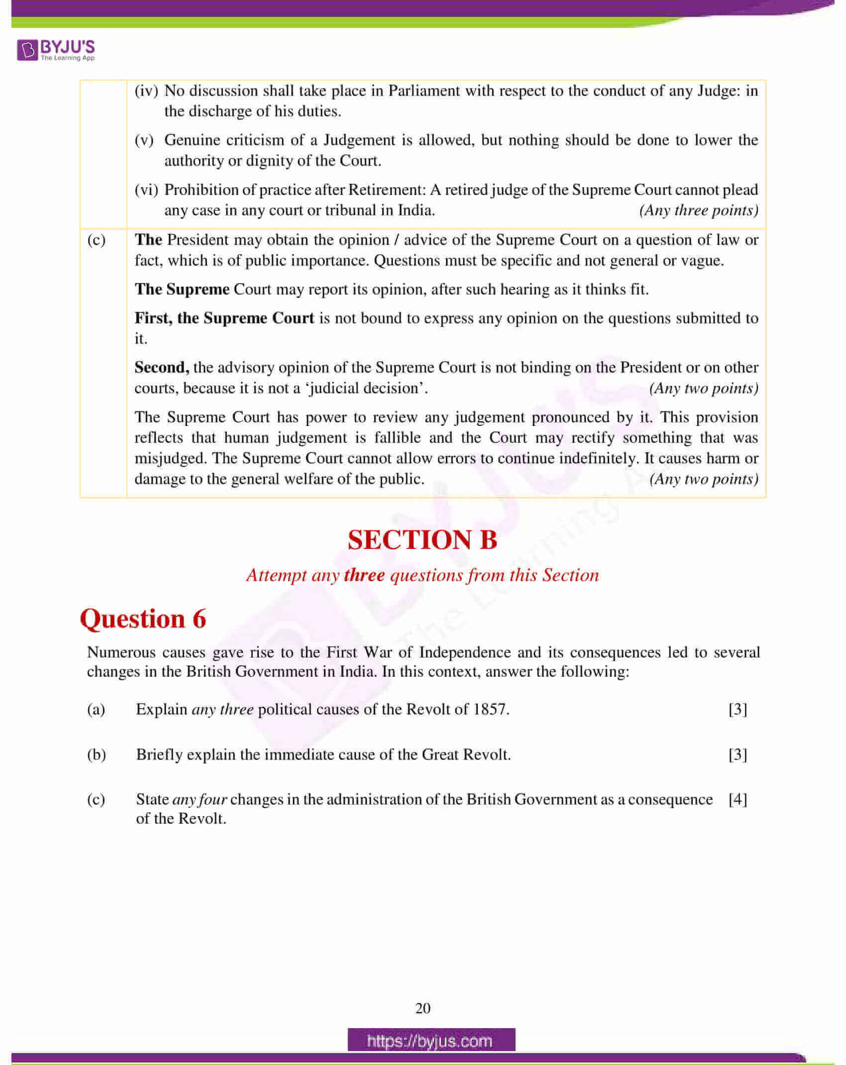 icse class 10 history civics question paper solution 2018 11