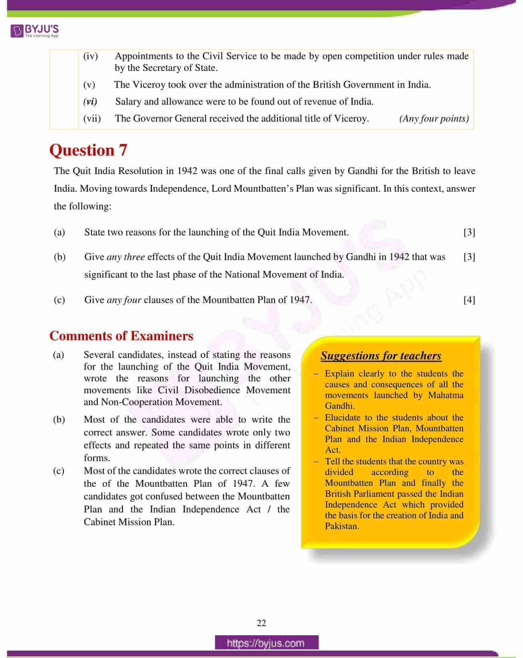 icse class 10 history civics question paper solution 2018 13