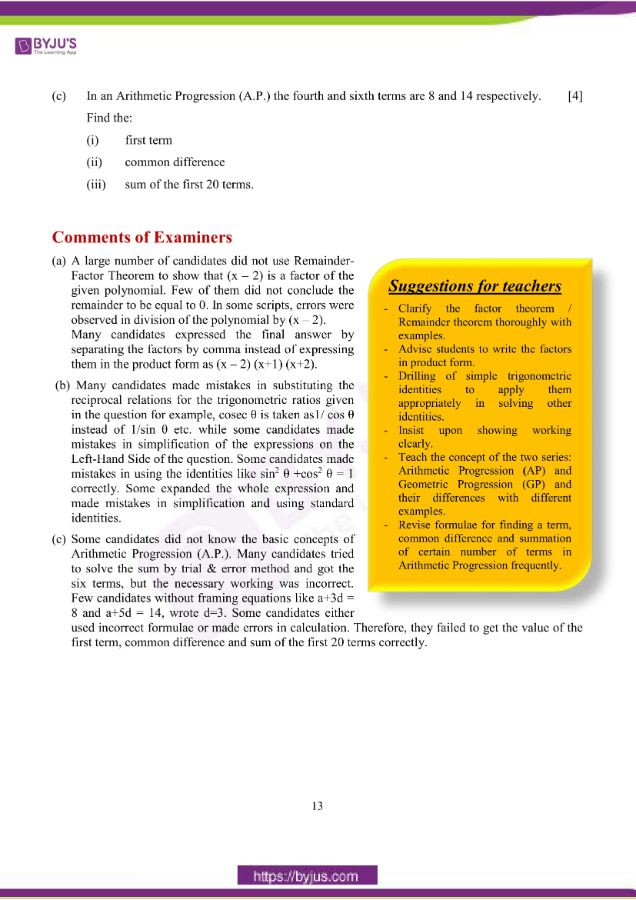 icse class 10 maths question paper solution 2019 04