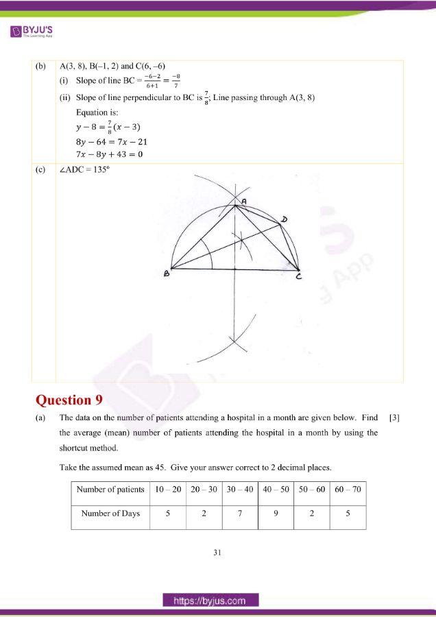 icse class 10 maths question paper solution 2019 22