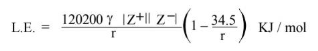 Kapustinskii Equation