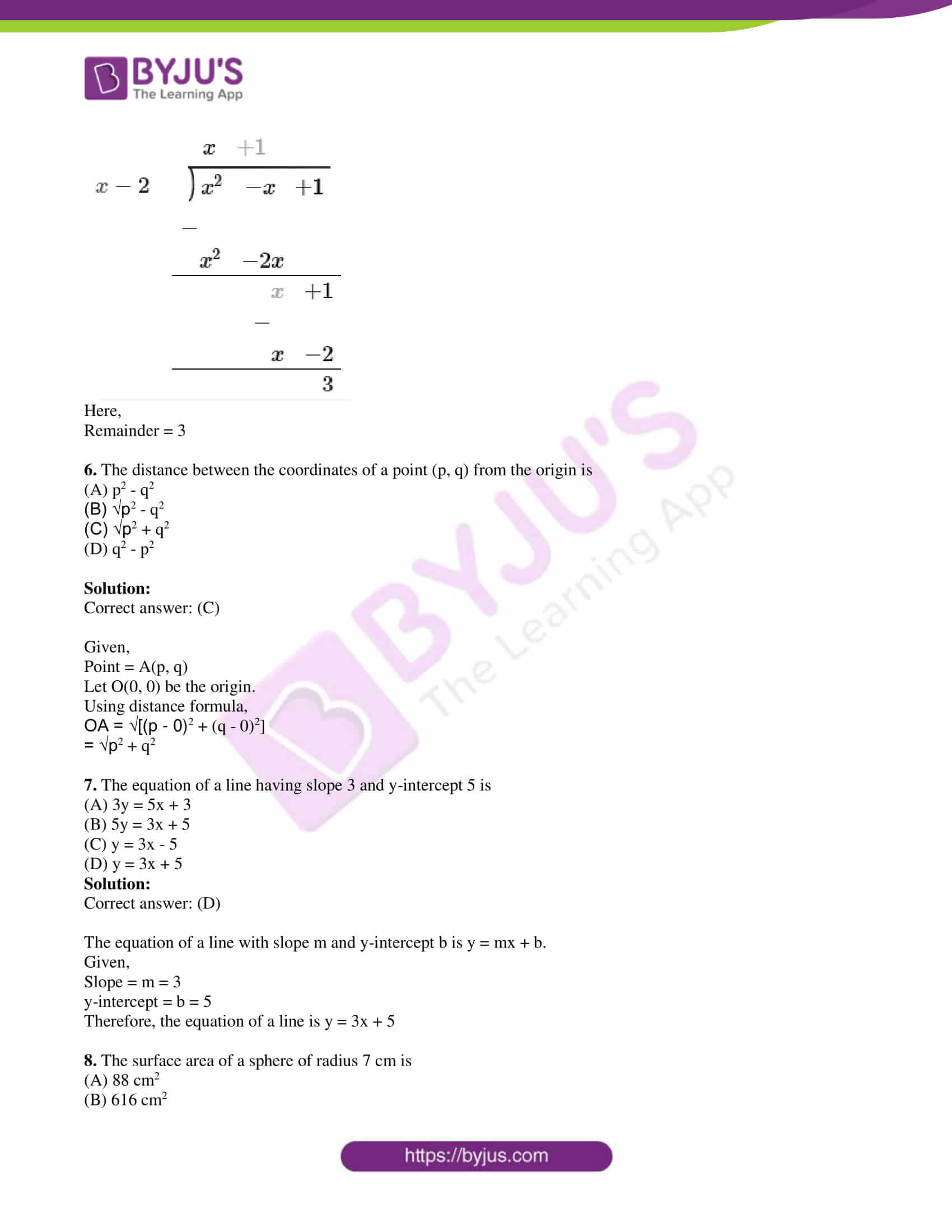 kseeb class 10 maths question paper solution 2018 03
