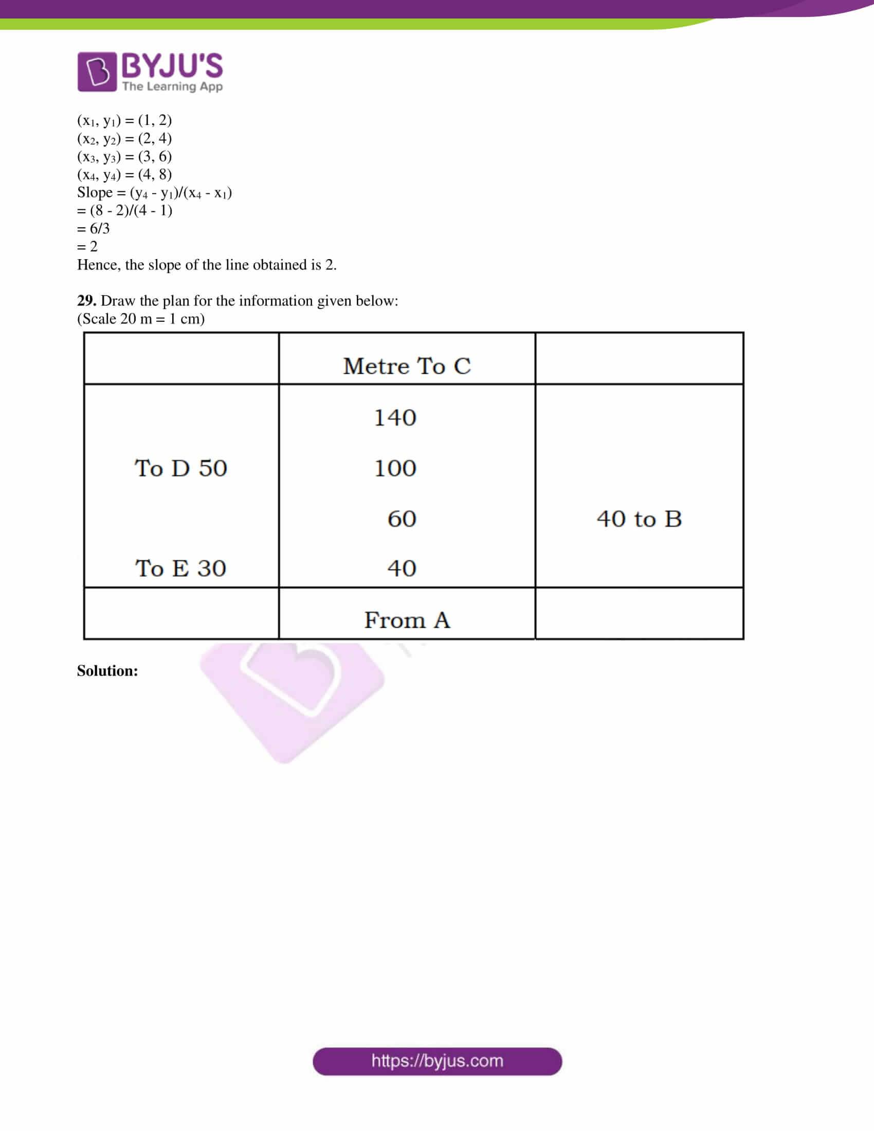 kseeb class 10 maths question paper solution 2018 12