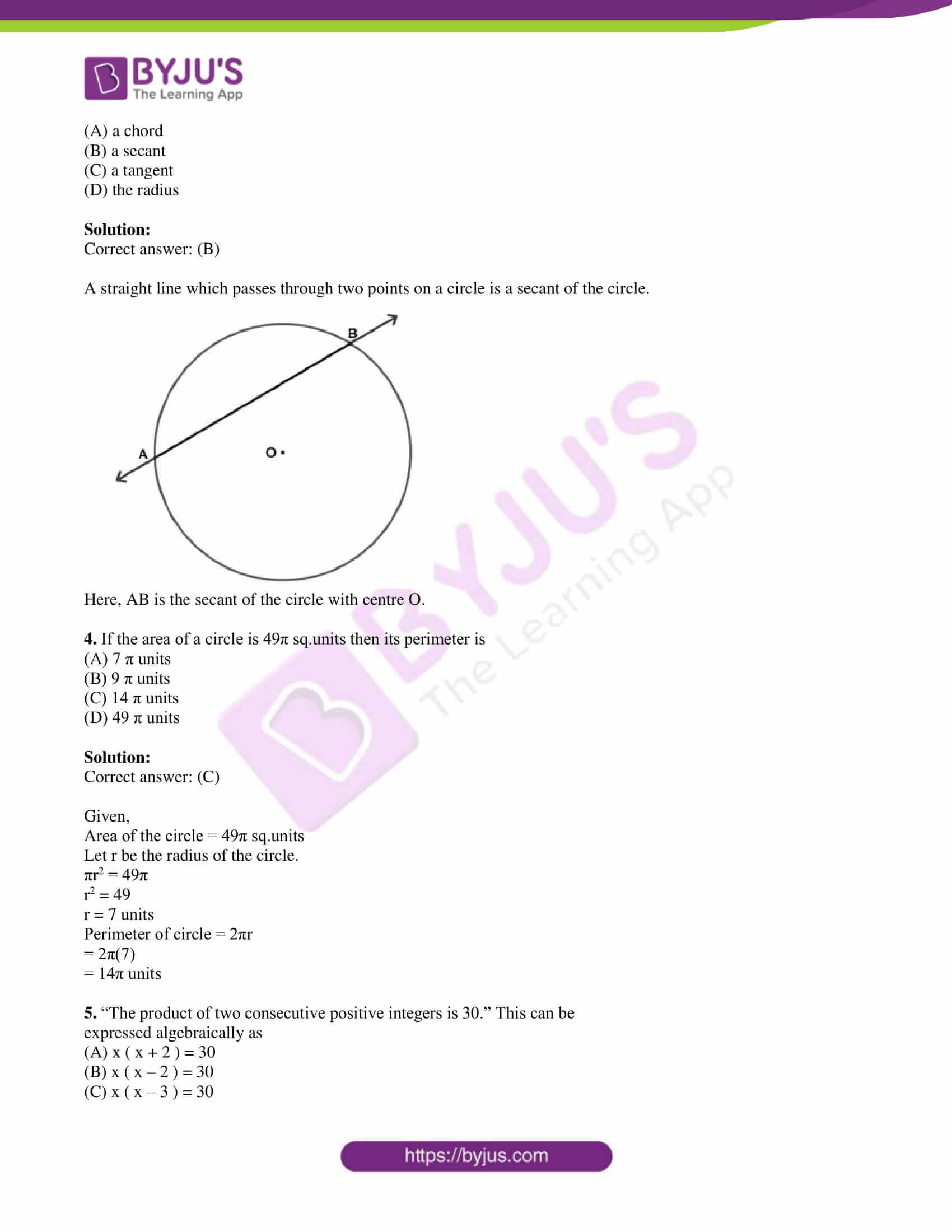 kseeb class 10 maths question paper solution 2019 02