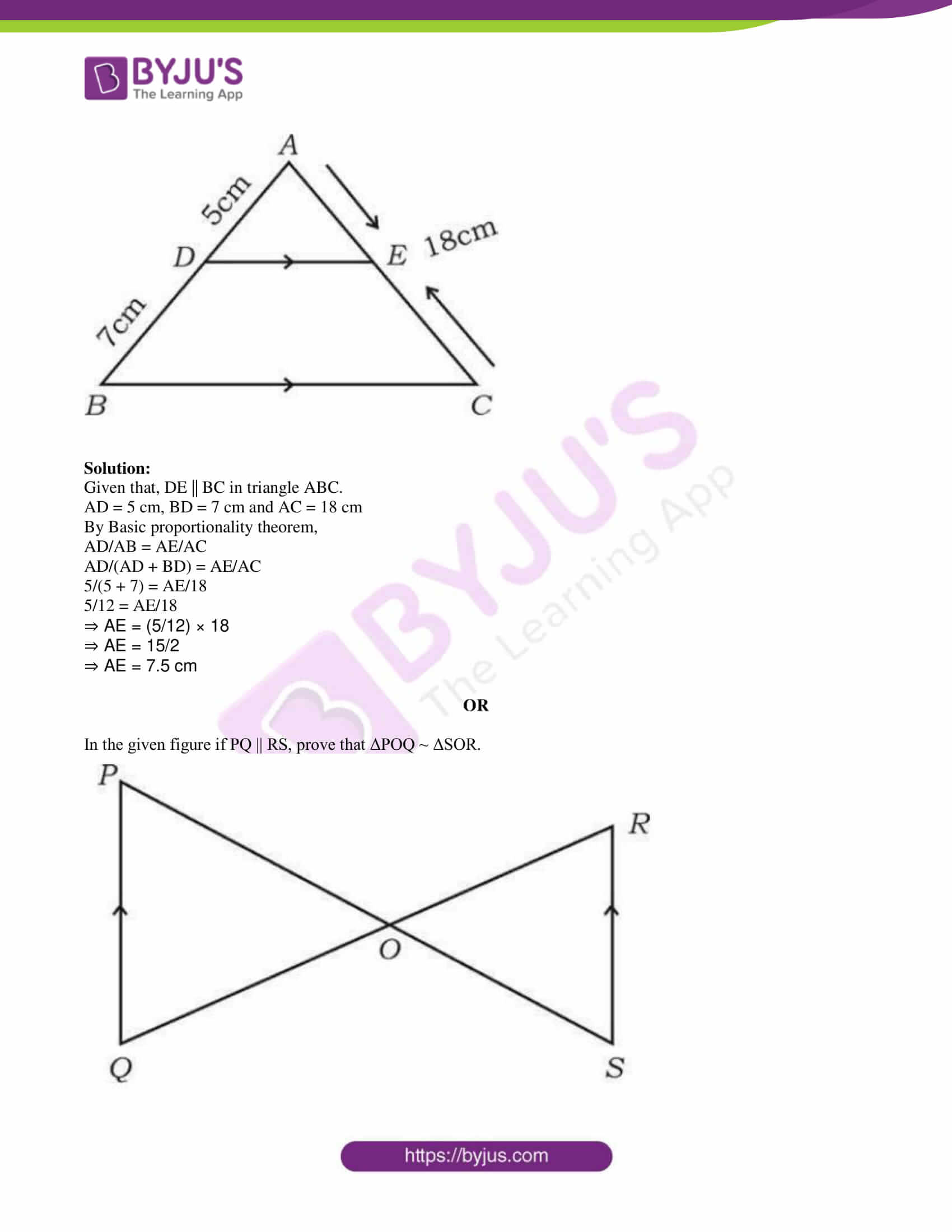 kseeb class 10 maths question paper solution 2019 07