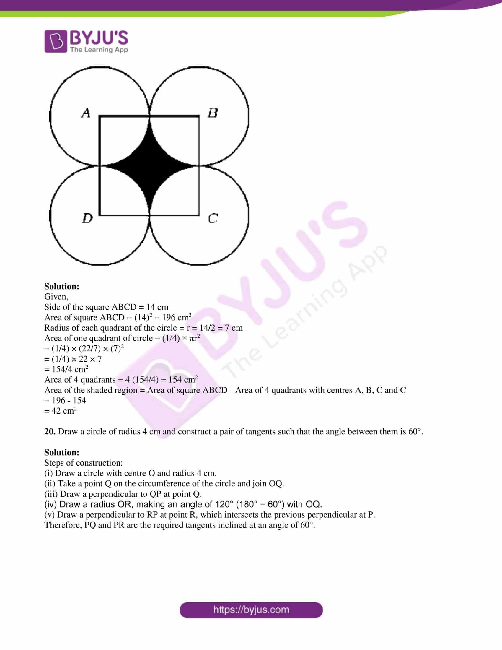 kseeb class 10 maths question paper solution 2019 09