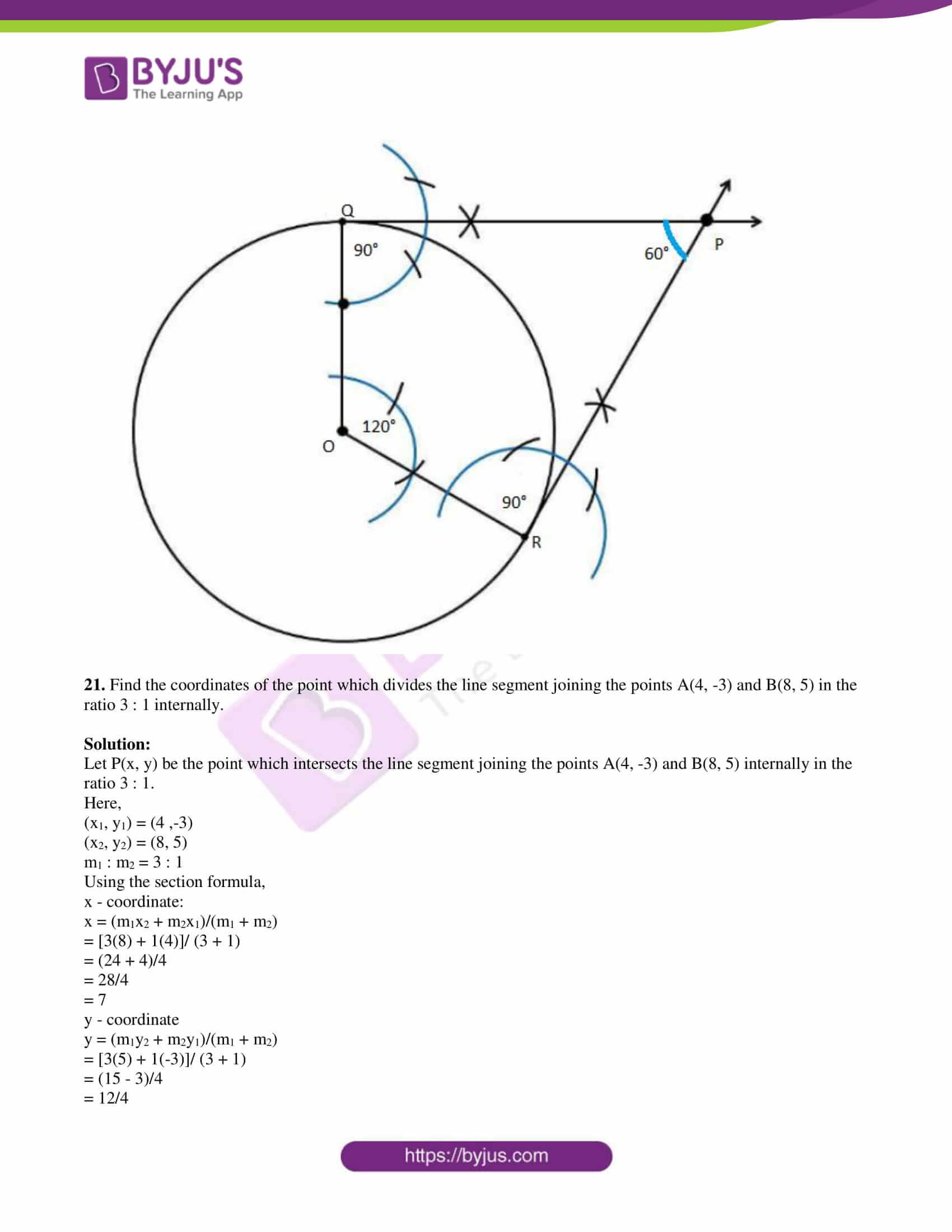 kseeb class 10 maths question paper solution 2019 10