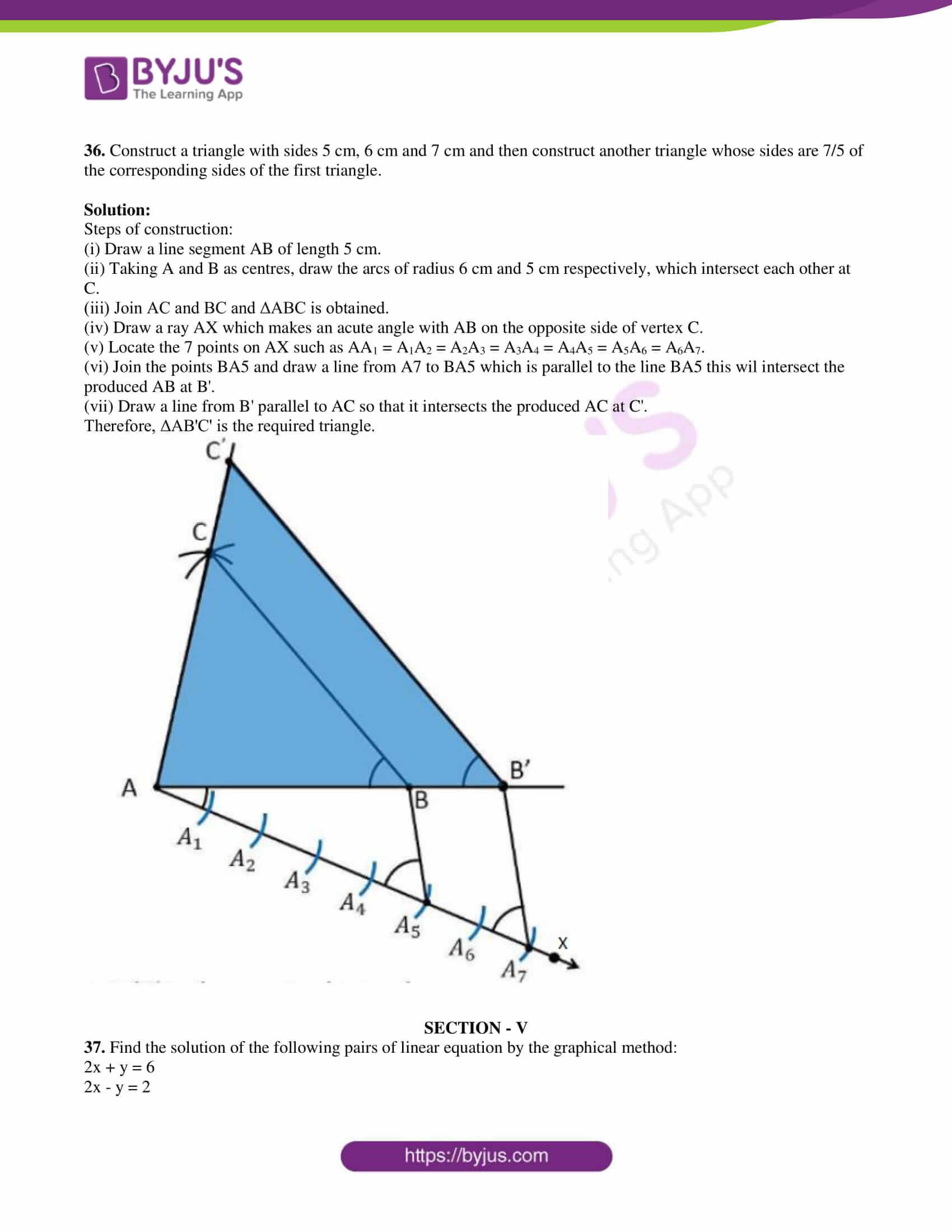 kseeb class 10 maths question paper solution 2019 22