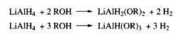 Lithium Aluminium Hydride + Alcohols