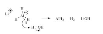Lithium Aluminium Hydride + Water