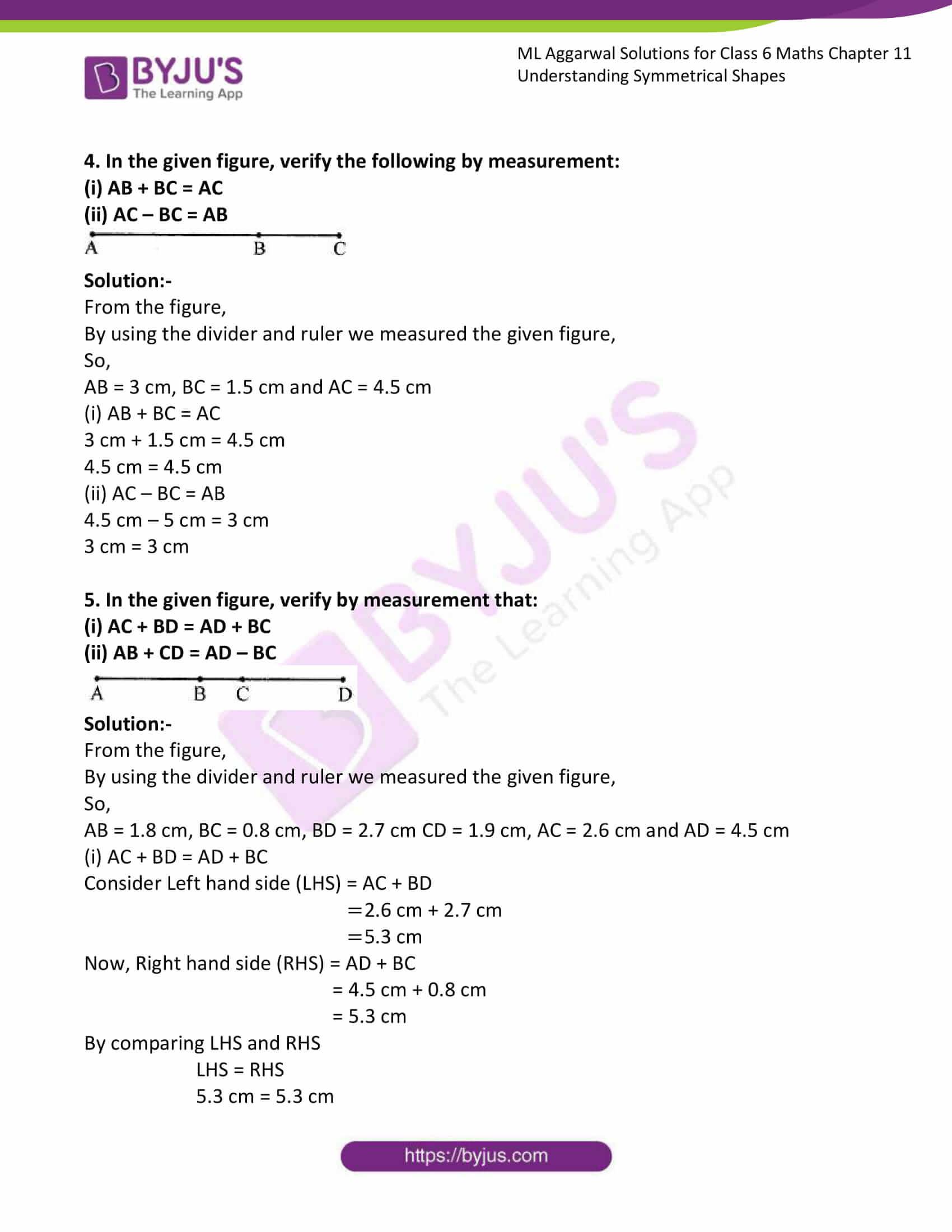 ml aggarwal sol class 6 maths chapter 11 2