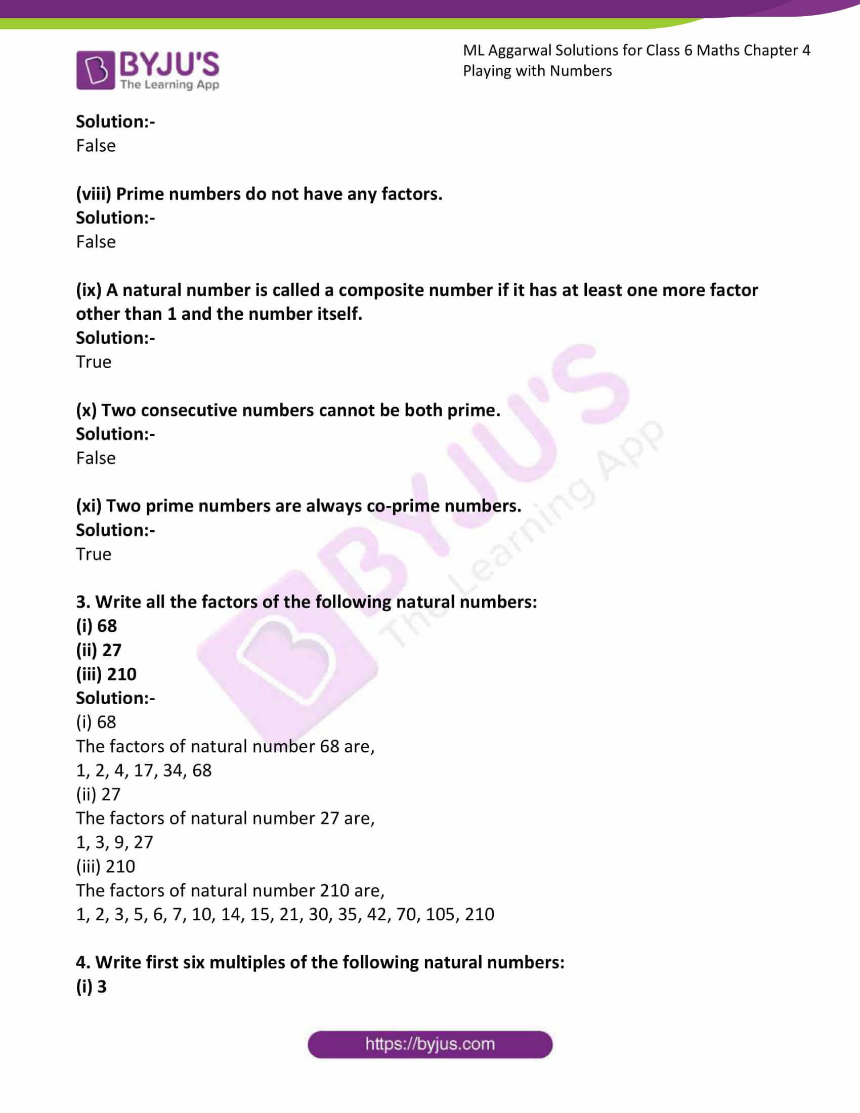 ml aggarwal sol class 6 maths chapter 4 3