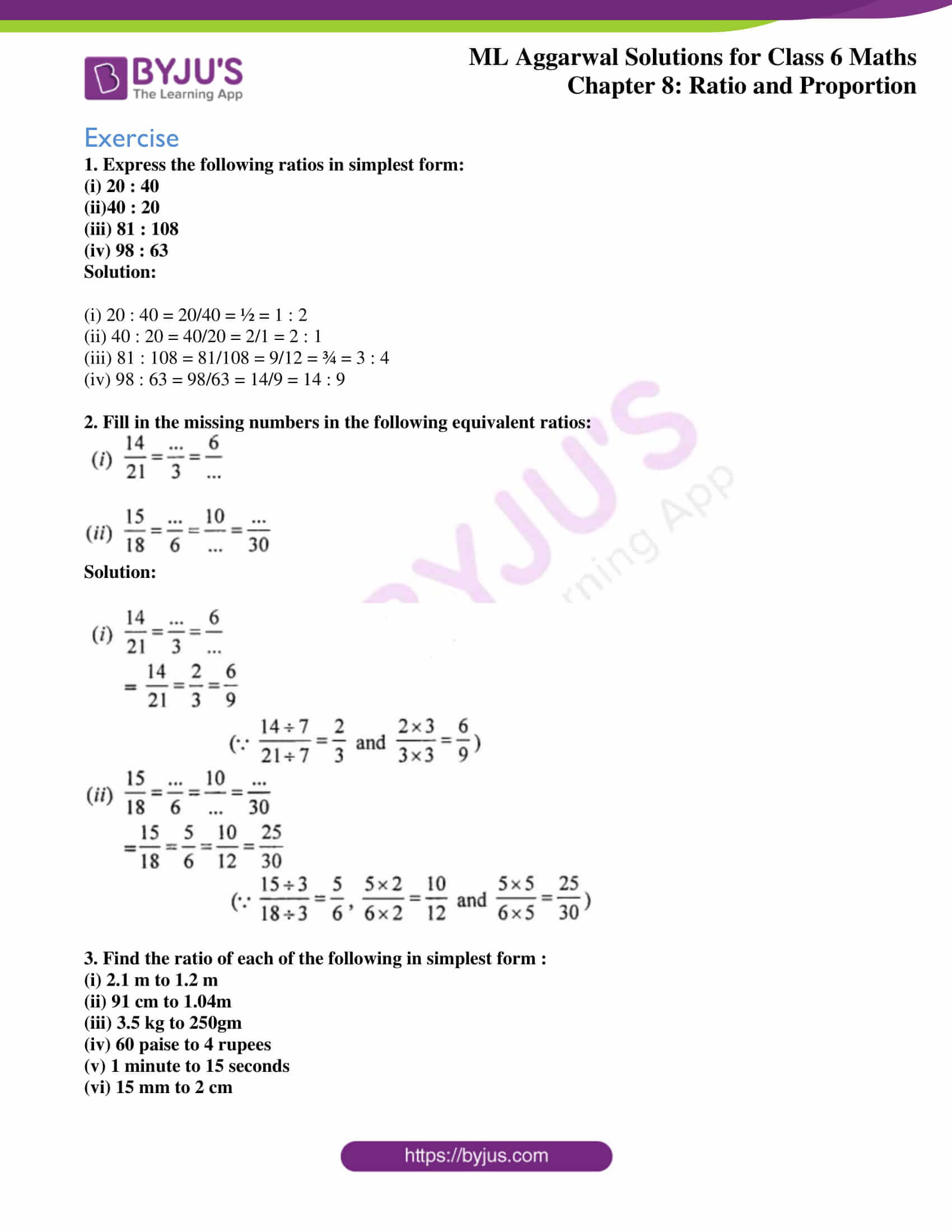 ml aggarwal sol class 6 maths chapter 8 1