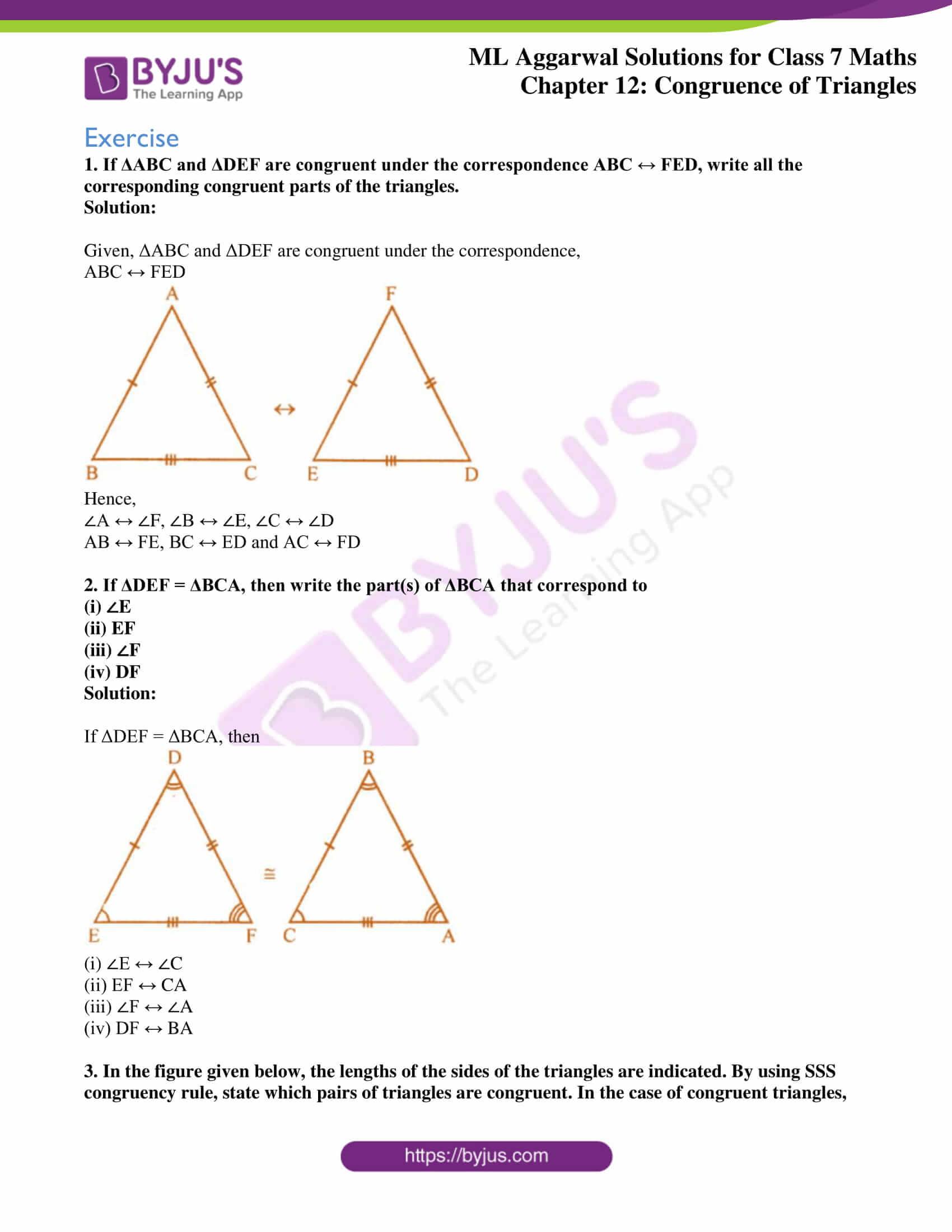 ml aggarwal sol class 7 maths chapter 12 1