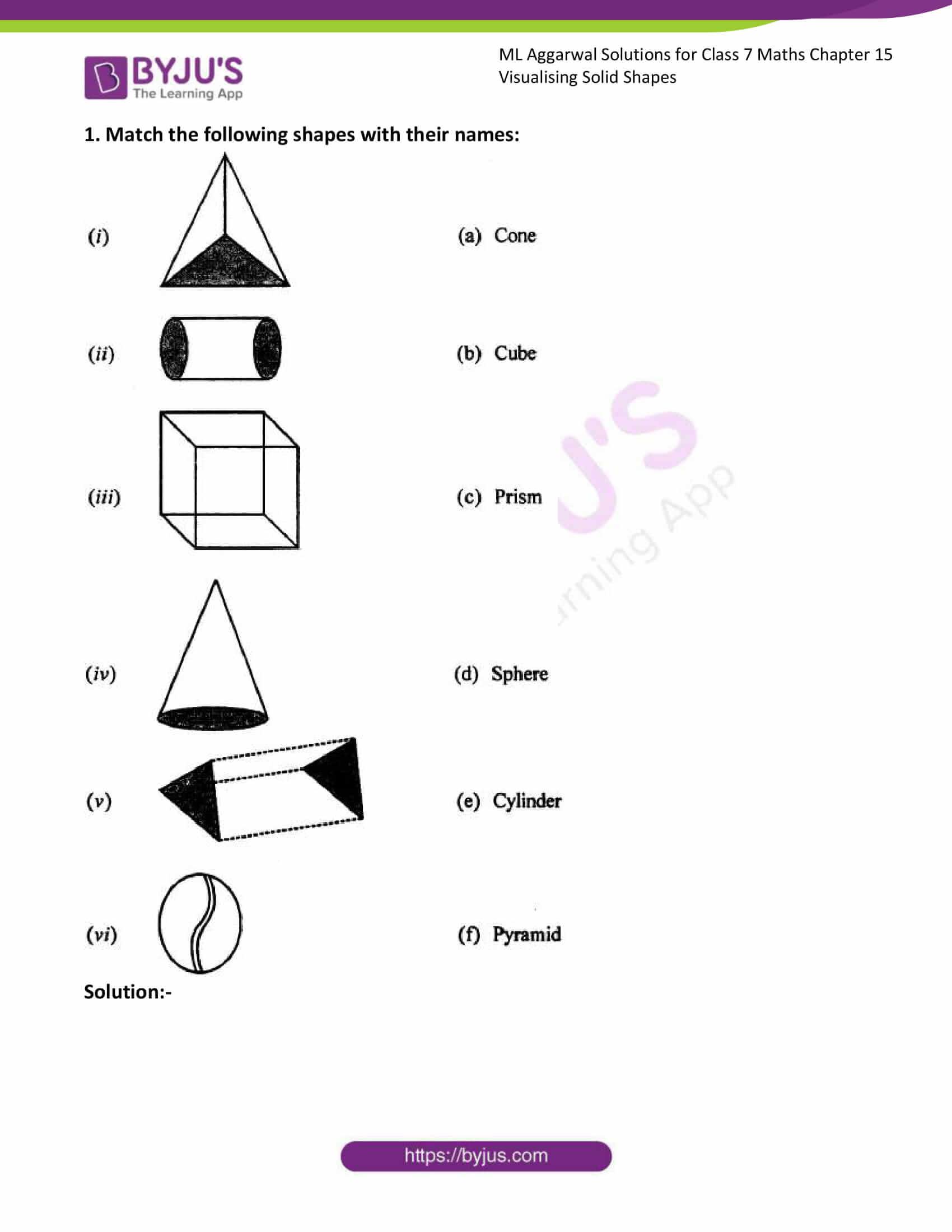 ml aggarwal sol class 7 maths chapter 15 1