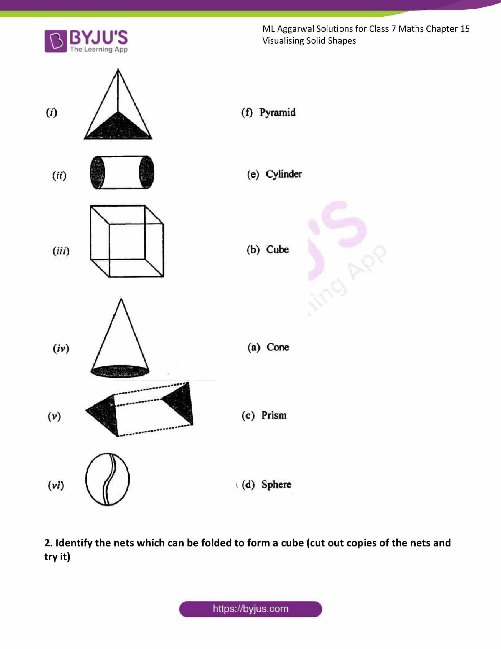 ml aggarwal sol class 7 maths chapter 15 2